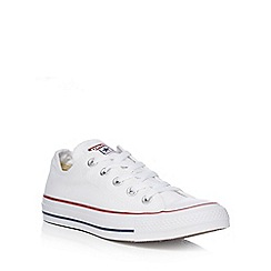 Converse - Off white canvas 'All Star' lace up trainers