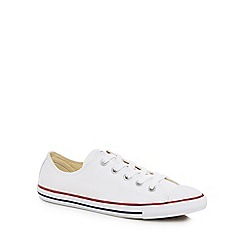 Converse - White canvas 'Dainty' trainers