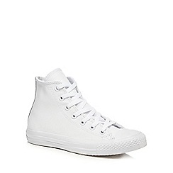 Converse - White leather 'All Star' high tops