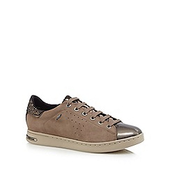 Geox - Taupe suede 'Jaysen' trainers