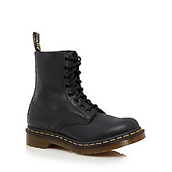 Dr Martens - Black leather 'Pascal' lace up boots