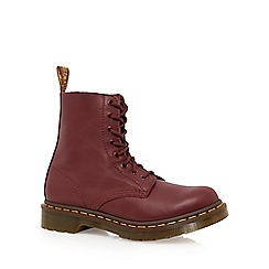 Dr Martens - Red leather 'Pascal' lace up boots