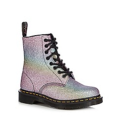 Dr Martens - Metallic 'Pascal' glitter lace up boots