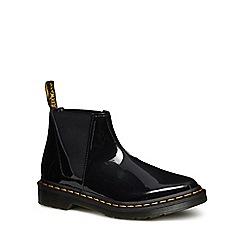 Dr Martens - Black leather patent 'Bianca' Chelsea boots