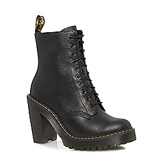 Dr Martens - Black leather 'Kendra' high block heel ankle boots