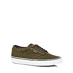 Vans - Dark olive suede 'Atwood' trainers