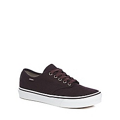 Vans - Maroon 'Camden Stripe' lace up trainers