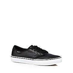 Vans - Black leather 'Camden Deluxe' trainers