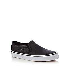 Vans - Black 'Asher' slip-on trainers