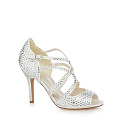 No. 1 Jenny Packham - Ivory 'Petal' high stiletto heel peep toe shoes