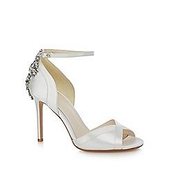 No. 1 Jenny Packham - Ivory 'Picnic' high stiletto heel ankle strap sandals