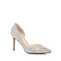 No. 1 Jenny Packham - Grey suede 'Prima' high stiletto heel pointed shoes