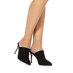 Faith - Black 'Cate' high stiletto heel pointed shoes