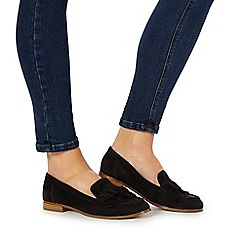 Faith - Black suede 'Ava' loafers