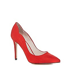 Faith - Red suedette 'Cheryl' high stiletto heel pointed shoes