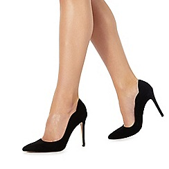 Faith - Black 'Cheryl' high stiletto heel pointed shoes