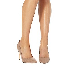 Faith - Taupe 'Cheryl' high stiletto heel pointed shoes