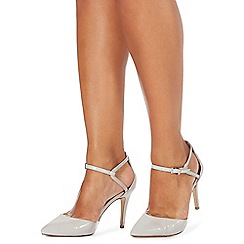 Faith - Grey 'Cece' high stiletto heel wide fit pointed shoes