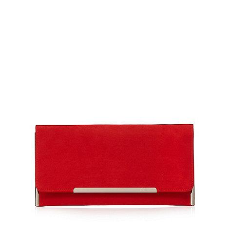 Faith Red 'Peggy' clutch bag | Debenhams