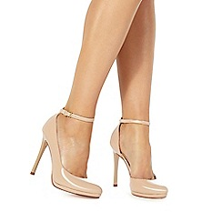 Faith - Natural 'Cruella' high stiletto heel court shoes