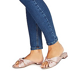 Faith - Pink satin 'Josephine' mules