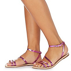 Faith - Pink 'Joan' ankle strap sandals