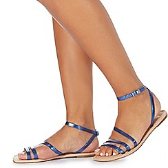 Faith - Blue 'Joan' ankle strap sandals