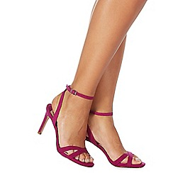 Faith - Pink 'Dodo' high stiletto heel ankle strap sandals