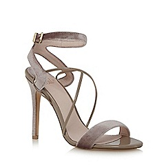 Faith - Purple 'Dana' high stiletto heel ankle strap sandals