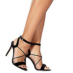Faith - Black 'Dana' high stiletto heel ankle strap sandals