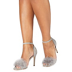 Faith - Grey 'Lana' high stiletto heel ankle strap sandals