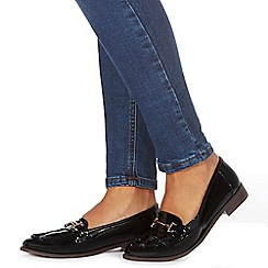 Faith - Black patent loafers