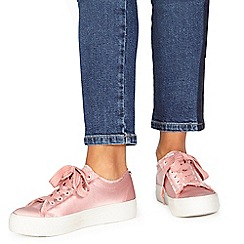 Faith - Pink 'Krystal' lace-up trainers