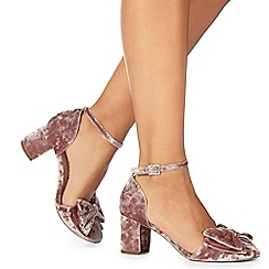 Faith - Pink 'Carin' high block heel ankle strap sandals
