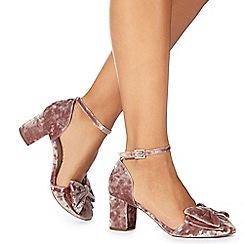 Faith - Pink 'Carin' high block heel ankle strap sandals