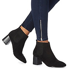 Faith - Black 'Bromance' high block heel Chelsea boots