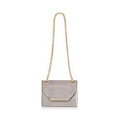 Faith - Grey velvet 'Paradise' cross body bag