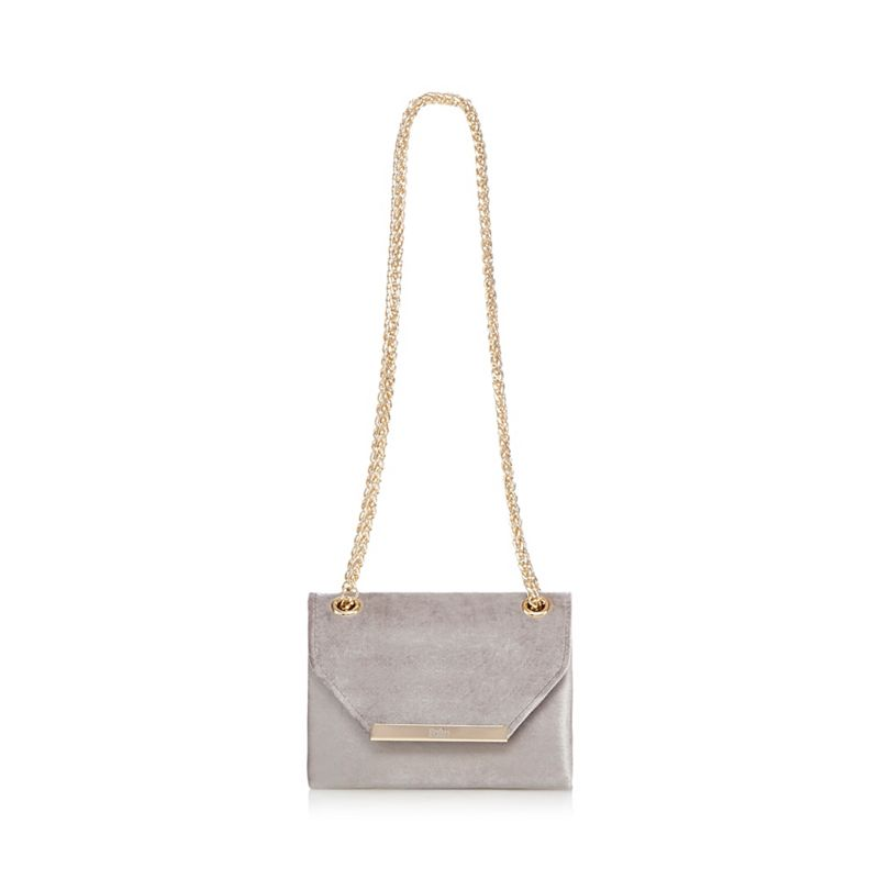 Faith - Grey Velvet Paradise Cross Body Bag