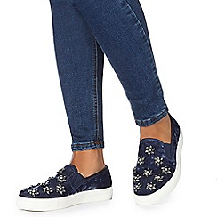 Faith - Blue 'Karen' slip-on trainers