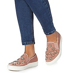 Faith - Pink 'Karen' slip-on trainers