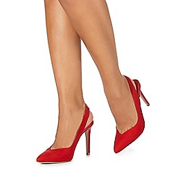 Faith - Red 'Casey' high stiletto heel pointed shoes