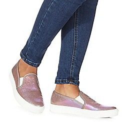 Faith - Pink 'Kendra' slip on trainers