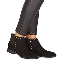 Faith - Black suedette 'Werlin' wide fit ankle boots