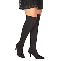 Faith - Black 'Missy' high stiletto heel over the knee boots