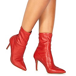 Faith - Red 'Billy' high stiletto heel ankle boots