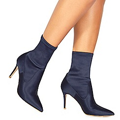 Faith - Navy 'Billy' high stiletto heel ankle boots