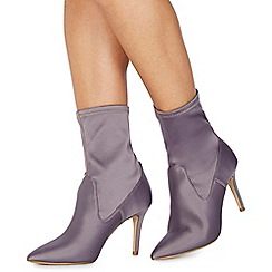 Faith - Light purple 'Billy' high stiletto heel ankle boots