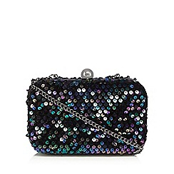 Faith - Multi-coloured 'Pebble' sequin clutch bag