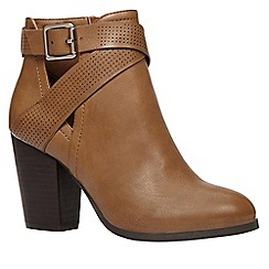 Call It Spring - Ladies cut-out boot with perfed strap