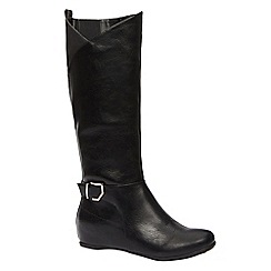 Call It Spring - Ladies knee high boots with ankle detail